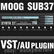 Moog Sub 37 VST AU Synth Plugin Analog Synthesizer Sounds Library Instrument DVD
