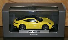 ULTRA RARE Porsche 911 New Model 992 Carrera 4S Yellow 2019 SPECIAL 1:43 NEW