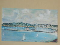 Pittura Acquerello Marina Porto di Bretagna Cappella Marittima