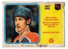 1X WAYNE GRETZKY 1982 83 OPC #243 Poor O Pee Chee scoring leader