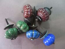 Vintage Ceramic Bun shape Knobs Drawer Pulls Cupboard Door Knob  6pc Mix Color
