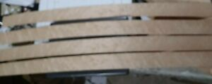 "4 pcs birdseye maple veneer 39"" x 2 1/8"" each wood flat 2 3/8"""