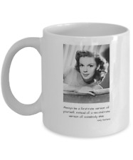 Judy Garland Coffee Mug - First-Rate Quote, Gray Dress Photo - New FreeShip