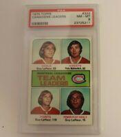 1975 Topps Canadiens Leaders 322 PSA 8 Guy Lafleur Canadiens