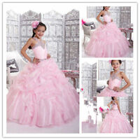 Flower Girl Dresses for Wedding Bridesmaids Prom Ball Gown Pageant Party Prince
