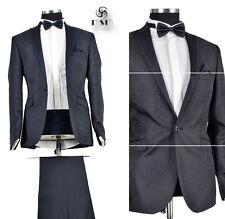 *419* auffälliger 6-teiliger Smoking Hochzeitsanzug - Herrenanzug in Gr.56 Blau