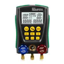 Digital Manifold Gauge Meter HVAC Pressure Temperature Vacuum Leakage Tester
