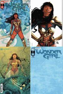 SET OF 4:  WONDER GIRL #1 COVER A B C & GRAMPA SPOT FOIL VARIANT 🔥🔥