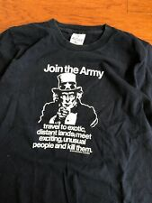 Vintage 80s 90s Join The Army Kill People Offensive Shirt Size Small