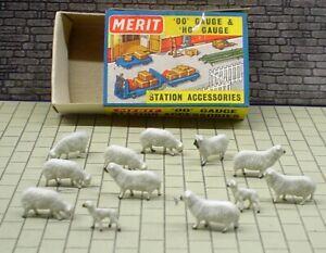MERIT 5110 SHEEP & LAMBS  - 12 PIECES (QTY 1) - NOS