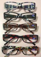 Trendige Lesebrillen mit passenden Etui Lesehilfe Brille in vers. Mustern & DPT