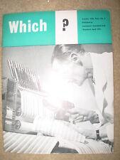 VINTAGE WHICH MAGAZINE SUMMER 1958 WASHING MACHINES - GROCERIES - SKIN TONICS