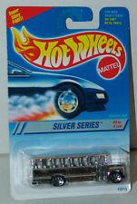 Hot Wheels 1995 Silver Series School Bus #328 Chrome with 7 Spoke Wheels MOC