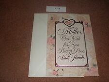 New HALLMARK Greeting Card Birthday MOTHER, ROSES & HEARTS  With Envelope