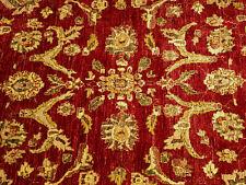 6 x 9 Hand Knotted Handmade Veggie Dye Hand Spun Fine Wool Afghan Sultanabad Rug
