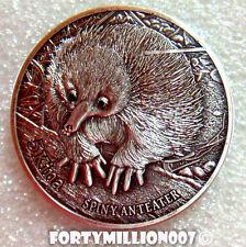 PAPUA NEW GUINEA 2012 5 KINA THE SPINEY ANTEATER  BLACK DIAMONDS Silver 100 MADE