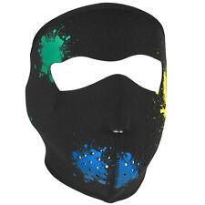 Zan Headgear Neoprene Full-Face Mask, Glow in the Dark Splatter