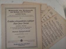 Choral score + parts A. Hammerschmidt HERR JESU CRISTO