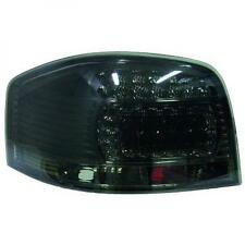 Back Rear Tail Lights Pair Set LED Clear Black Only Audi A3 03-08