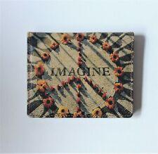 Imagine wallet Leather Wallet Credit Card Holder Peace Sign Wallet