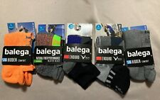 Men's Size Large Balega Socks, 3 no show, 2 quarter, brand new