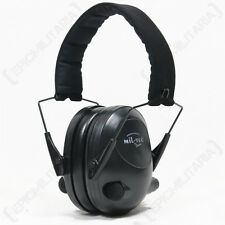 Black ACTIVE Electronic EAR DEFENDERS Hunting Shooting HEARING PROTECTION Muffs