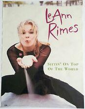 LE ANN RIMES ~ RARE ORIGINAL VINTAGE PROMOTIONAL ALBUM RELEASE POSTER
