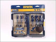 IRWIN 10506628 6pc Blue Groove 6x Wood Boring Bit Set
