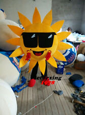 Mr. Sun Sunflower Mascot Costume Fancy Dress Suit Free Shipping
