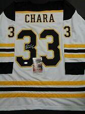 Zdeno Chara Boston Bruins Autographed Signed White Style Jersey XL w-coa JSA--