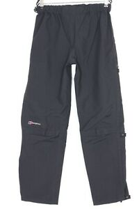 BERGHAUS GORE-TEX PERFORMANCE SHELL Venting Waterproof Trousers Size M DZ1253