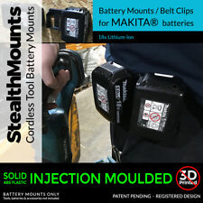 2x Genuine StealthMounts BATTERY MOUNTS for Makita 18v fits BL1850 BL1840 BL1830