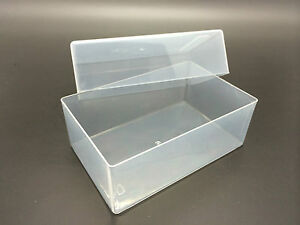 Business Card Box Plastic Holders Clear Craft Container Storage Boxes