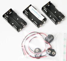 3 Stück Batterie Akku Kasten Halter Fach Pack 2 AA Zellen für Funkgeräte neu
