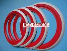 """ATLAS Brand 14"""" Red  White Wall Port-a-wall Tyre insert trim set Free Shipping"""