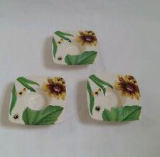 ❀ڿڰۣ❀ SPODE Set of 3 FLORAL HAVEN Ceramic TEALIGHT CANDLE HOLDERS ~ Rare ❀ SALE