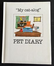 "*Vintage* ""My Cat-Alog"" Pet Diary Cat Baby Book 1986 Amore Cat Food Promo Nos"
