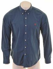 POLO RALPH LAUREN Mens Shirt XL Blue Cotton Slim Fit  KU13