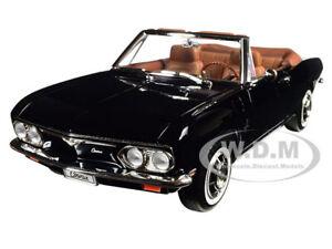 1969 CHEVROLET CORVAIR MONZA CONVERTIBLE BLACK 1/18 DIECAST ROAD SIGNATURE 92498
