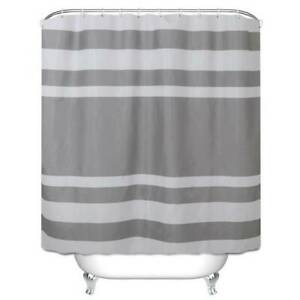 Bathroom Shower Curtain Extra Long with Free Hooks Modern Decorations Waterproof