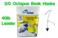 5 Twisted Paternoster Fishing Rigs -40lb 3/0 Octopus Beak Hooks Snapper Pre-tied