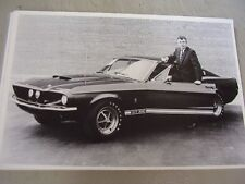 1967 FORD SHELBY MUSTANG 350 GT WITH C. SHELBY  12 X 18 LARGE PICTURE   PHOTO