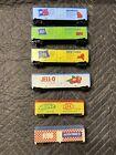Tyco HO Scale Lot Of Six Box Cars- NY, GA, PA, Ralston Purina, Jello, Heinz