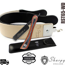 Straight Cut Throat Razor Sharpening Barber Shaving And Real Leather Strop, Belt