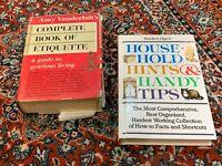 AMY VANDERBILT'S BOOK OF ETIQUETTE READERS DIGEST HOUSEHOLD HINTS & HANDY TIPS
