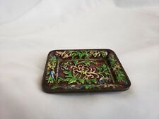 """Beautiful antique chinese metal tray 3"""", cloisonne"""
