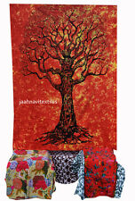 Double Tapestries Bedspread Throw Indian Tree of Life Wall Hanging Ethnic Decor