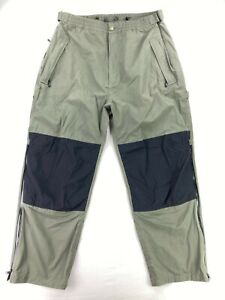 Cabelas Men's 100% Nylon Extreme Wet Wader Brush Pants Green • Tall • 2XL
