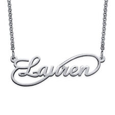 Infinity Style Name Necklace in Sterling Silver 925 - Personalized (USA Seller)