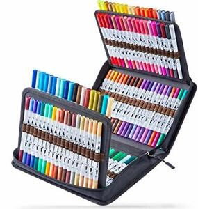 120 Colours Art Pens Set, Ohuhu Dual Tips Coloring Brush Fineliner Color Marker